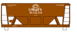 Duluth, Missabe and Iron Range Ore Hopper Cars White - Decal