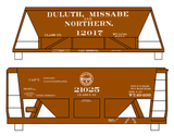 Duluth. Missabe and Northern Ore Hopper Cars White - Decal