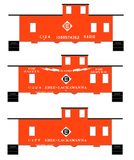 Erie Lackawanna Caboose White Radio - Decal