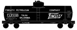 Fidelity Petroleum Tank Car White - Decal