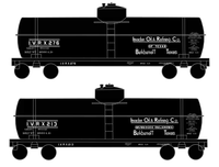 Invader Oil Refining Single Dome Tank Car White - Decal