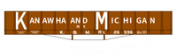 Kanawha and Michigan Coal Gondola White - Decal