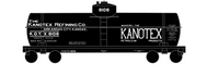 Kanotex Refining Tank Car White - Decal