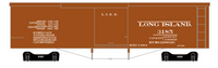 Long Island Railroad 37 Ft Wood Boxcar White - Decal