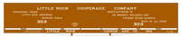 Little Rock Cooperage Co 60 Ft Wood Cooperage/Barrel Boxcar White - Decal