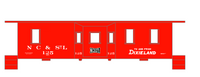 Nashville, Chattanooga and St Louis Caboose White NC&StL - Decal