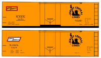 Central Of New Jersey 40 Ft Steel Ice Reefer Black NJDX - Decal