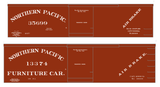 Northern Pacific 36 Ft Wood Boxcar White  - Decal