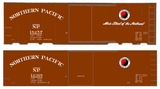 Northern Pacific 40 Ft Wood Or Steel Boxcar White  - Decal