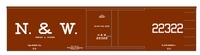 Norfolk and Western 34 Ft Wood Boxcar White  - Decal