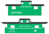 Penn Central PC Caboose White - Decal