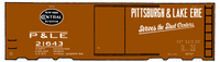 Pittsburgh and Lake Erie 40 Ft Boxcar Serves the Steel Centers P&LE - Decal