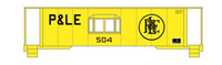 Pittsburgh and Lake Erie Caboose Black P&LE - Decal