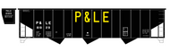 Pittsburgh & Lake Erie Three Bay Hopper Big Yellow P&LE - Decal
