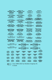 1900 Era Various Car Builder Insignias - Decal - Choose Scale and Color
