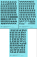 Limelight Art Deco Letter Number Alphabet - Decal - Choose Size and Color