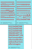 Lowercase Railroad Roman Letter Alphabet - Decal - Choose Size and Color