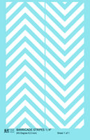 45 Degree Diagonal Barricade Stripes - Decal Sheet