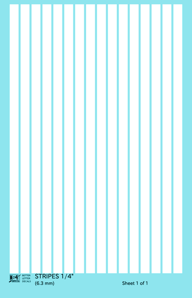 Straight Line Stripes - Decal Sheet