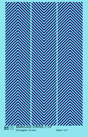 45 Degree Diagonal Barricade Stripes - Decal - Choose Size and Color