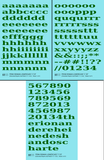 Lowercase Penn Roman Letter Number Alphabet - Decal - Choose Size and Color