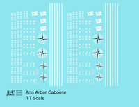 Ann Arbor Caboose White - Decal - Choose Scale