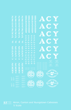 Akron Canton & Youngstown Caboose Passenger MOW Car White ACY - Decal - Choose Scale