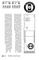 Buffalo Creek 40 Ft Boxcar White - Decal