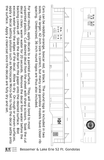 Bessemer and Lake Erie 52 Ft Gondola White B&LE - Decal