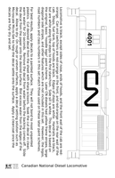 Canadian National Diesel Locomotive White First Noodle Scheme - Decal