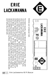 Erie Lackawanna 40 Ft Boxcar White - Decal