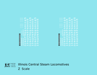Illinois Central Steam Locomotive White - Decal - Choose Scale