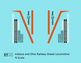 Indiana and Ohio Railway Diesel Locomotive - Decal - Choose Scale