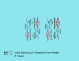 Jelke Good Luck Margarine Billboard Ice Reefer Black and Red - Decal - Choose Scale