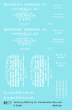 Kentucky Refining Co Combination Tank & Boxcar White Louisville - Decal Sheet