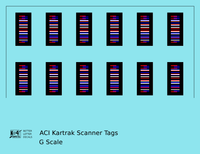 Kartrak ACI Scanner Barcode Tags  - Decal - Choose Scale