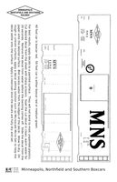 Minneapolis Northfield and Southern 40 and 50 Ft Boxcars White - Decal