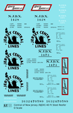 Central Of New Jersey 40 Ft Steel Ice Reefer Black NJDX - Decal Sheet