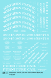 Northern Pacific 36 Ft Wood Boxcar White  - Decal Sheet
