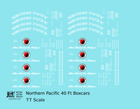 Northern Pacific 40 Ft Wood Or Steel Boxcar White  - Decal - Choose Scale