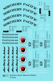 Northern Pacific Wood Ice Reefer Black  - Decal Sheet