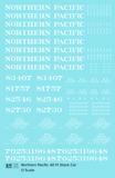 Northern Pacific 40 Ft Stock Car White  - Decal Sheet