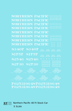 Northern Pacific 40 Ft Stock Car White  - Decal - Choose Scale