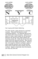 New York Central Cement Covered Hopper Black - Decal