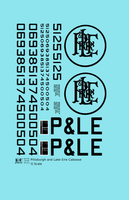 Pittsburgh and Lake Erie Caboose Black P&LE - Decal - Choose Scale