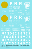 Pennsylvania Railroad PRR H43 3 Bay Hopper White Late Scheme - Decal - Choose Scale