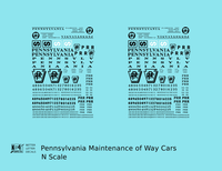 Pennsylvania Railroad PRR MOW Maintenance Of Way Cars Black - Decal - Choose Scale