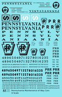 Pennsylvania Railroad PRR MOW Maintenance Of Way Cars Black - Decal Sheet