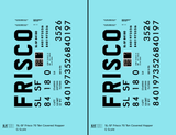 SLSF Frisco Covered Hopper Black  - Decal - Choose Scale