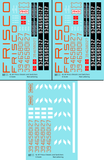 SLSF Frisco Diesel Locomotive Red and White - Decal - Choose Scale